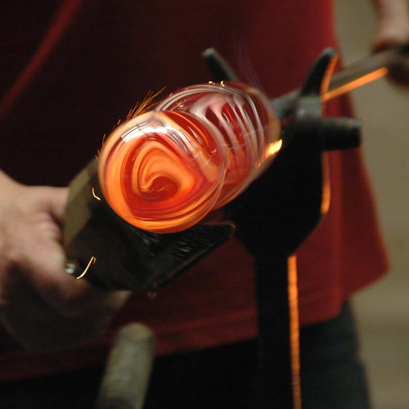 the glass blowing process