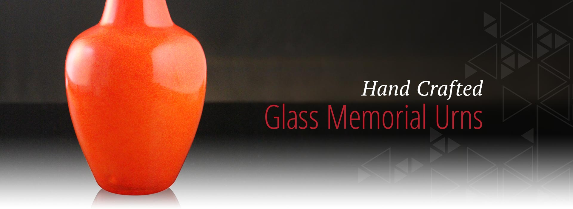 hand crafted glass memorial urns